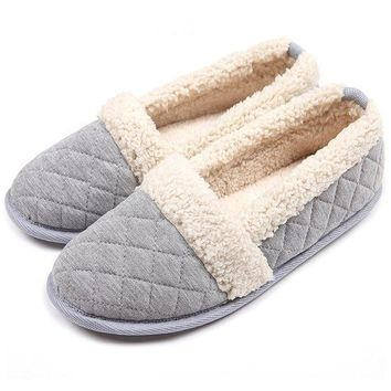 ICIKNY1 ChicNChic Women Plush House Slippers Ladies Non Slip Indoor Winter Bedroom Shoes