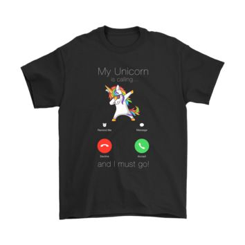 KUYOU My Unicorn Is Calling And I Must Go Incoming Call Shirts