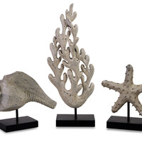 Seaside Series Statuary - Set of 3