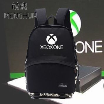 New game console Xbox one concept game fans daily wear backpacks black gamers backpack X box logo printing backpack NB143