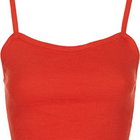 Topshop Orange Petite Bralet Crop Top