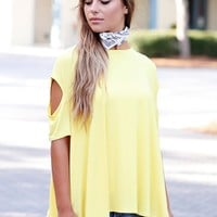 Criss Cross Open Sleeve Top