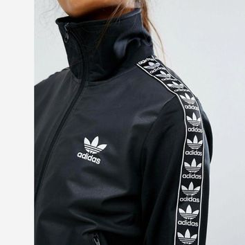 adidas Originals Fashion Women Tape Black Jacket