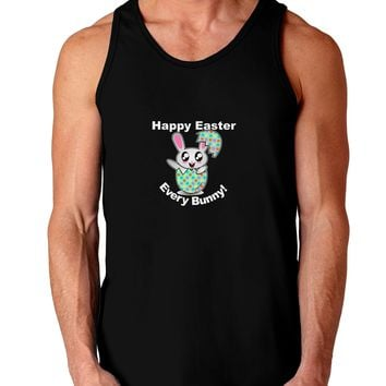 Happy Easter Every Bunny Dark Loose Tank Top  by TooLoud