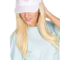 Lauren James Pointe Prep Bow Hat in Pink Seersucker