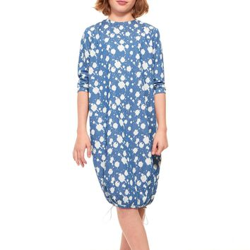 Indigo Big Girls' Paint Splatter Bubble Dress