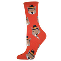 Pilgrim Squirrel Socks