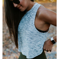 Fashion Casual Solid Color Back Crisscross Hollow Sleeveless Yoga Sports Vest