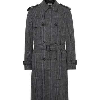 Loewe - Checked Wool, Mohair and Cashmere-Blend Tweed Coat