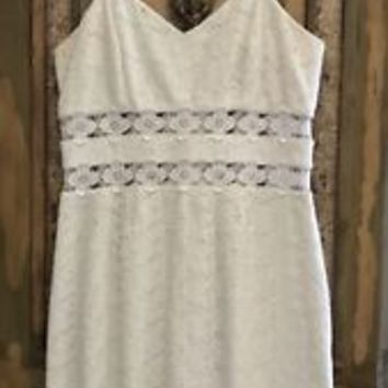 Lilly Pulitzer Dress Ivory Eyelet Crochet Lace Size 10