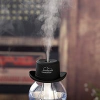 E-accexpert Cowboy Cap USB Mini Portable Air Humidifier, Black