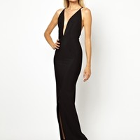 Solace London Revelation Maxi Dress with Strappy Low Back