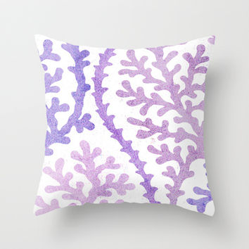 Purple Coral Points Throw Pillow by House of Jennifer