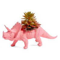 Plaid Pigeon Triceratops Faux Planter | Nordstrom