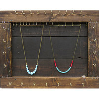Jewelry Organizer // Necklace Display // Reclaimed Wood Furniture // Bracelet Storage // Wall Mount Jewelry Hooks // Eco-Friendly Decor Gift