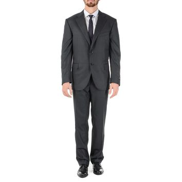 Corneliani Mens Suit Long Sleeves Dark Grey Super 160's