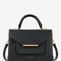 Patent crosshatch lady bag - Black | Bags | Ted Baker ROW