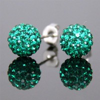 Top Quality High End Shamballa Swarovski Crystal Ball Stud Earrings for Wedding