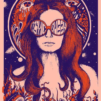 "psychedelic ""Cosmic Queen""  print A3 heavy weight 350 gsm"