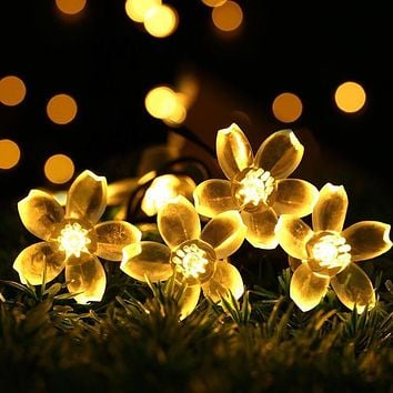 Battery Sakura Flower 5M 50 LED String Light LED Fairy Lights for Festival Christmas Halloween Wedding Holiday Light Decoration