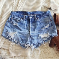 Vintage Tattered & Distressed Shorts