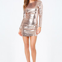 ALLOVER SEQUIN DRESS