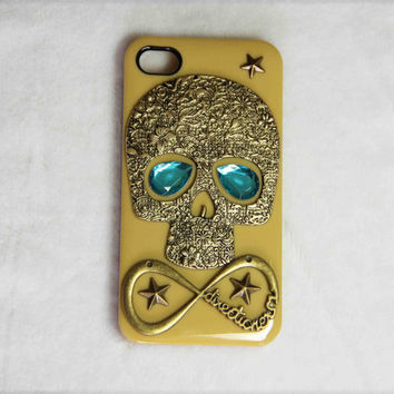 bronze skull blue rhinestone one direction iPhone case airplane iphone 4 4s 5 case 1D directioner phone case friendship love gifts trending