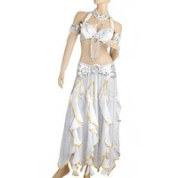 BellyLady 6-Pieces Professional Gypsy Trial Belly Dancing Costume