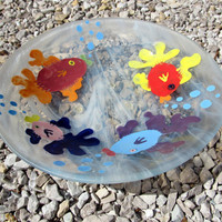 Whimsical Fused Glass Fish Bowl Item 18 by AJGlassWorks on Etsy