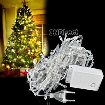 10M 100Ls White Christmas String Light Party Wedding Twinkle Lamps 220V  D_L = 1712756548
