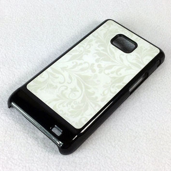 Snow Floral Pattern  Samsung Galaxy S2 I9100 Hard Cover Case