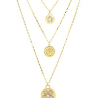 Gold Triple Chain Icon Necklace by Juicy Couture, O/S