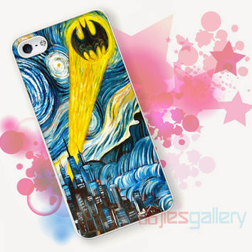 Batman Logo Stary Night for iPhone 4/4S, iPhone 5/5S, iPhone 5C, iPhone 6 Case - Samsung S3, Samsung S4, Samsung S5 Case
