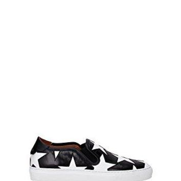 Givenchy Women's Shoes Stars Printed Leather Slip-On Sneakers Black