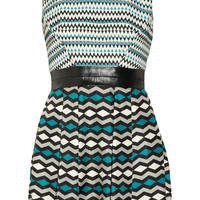 Milly|Ainsley patterned wool-blend and silk-twill dress|NET-A-PORTER.COM