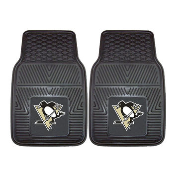 Pittsburgh Penguins NHL Heavy Duty 2-Piece Vinyl Car Mats (18x27)