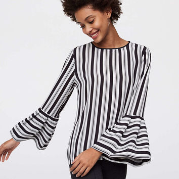 Striped Bell Sleeve Blouse | LOFT
