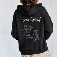 Project Social T Embroidered Souvenir Hoodie Sweatshirt - Urban Outfitters