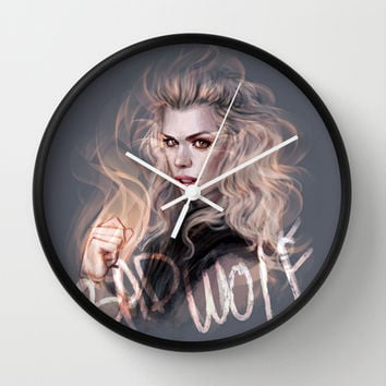 Bad Wolf Wall Clock by jasric
