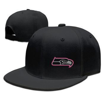 Seattle Seahawks Breast Cancer Awareness Team Travel Performance Breathable Unisex Adult Womens Snapback Caps Mens Hip-hop Hats