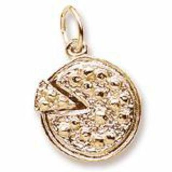 Pizza Charm in Yellow Gold Plated
