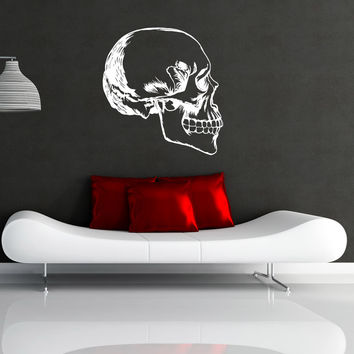 Vinyl Wall Decal Sticker Skull Profile #OS_MB986