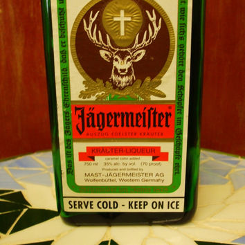 20 Ounce Pure Soy Candle in Reclaimed Jagermeister Liquor Bottle - Your Choice of Scent