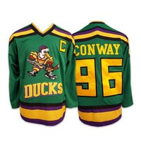 Retro Mighty Ducks Charlie Conway Hockey Jersey