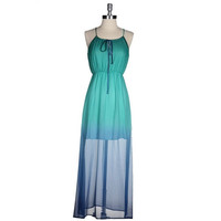 Ombre Obsessed Teal Maxi Dress