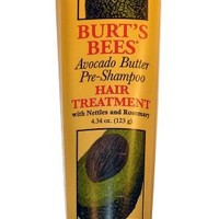 Burt's Bees Avacado Butter Pre-Shampoo Hair Treatment with Nettle and Rosemary, 4.34-Ounce Bottle  (Pack of 2)