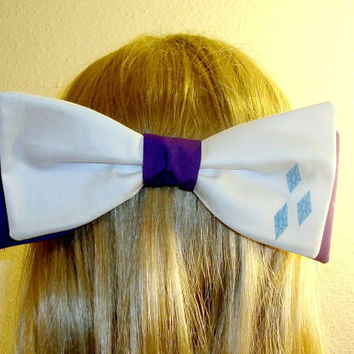 Rarity Hair Bow Tie My Little Pony Barrette