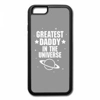 greatest daddy in the universe white print iPhone 7 Case