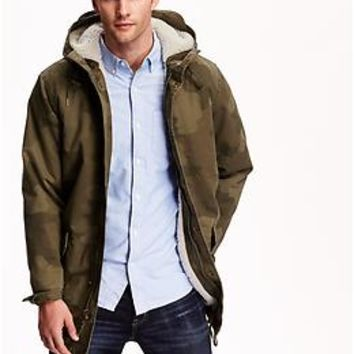 Sherpa-Lined Camo Jacket