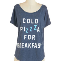 ModCloth Quirky Mid-length Short Sleeves A Pizza My Mind Tee